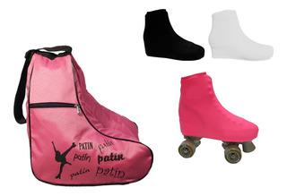 Bolso Alforja P/patines + Cubre Bota Lycra. Patin Artistico