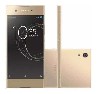 Smartphone Sony Xperia Xa1 32gb G3116 Gold Lacrado + Nfe