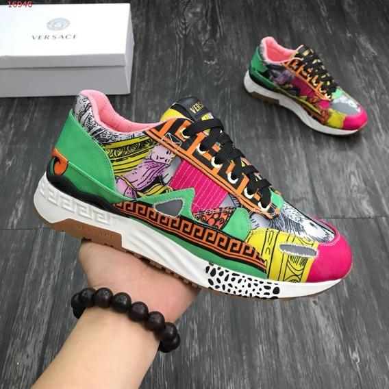Tênis Versace Satin Insert Achilles Sneakers 05
