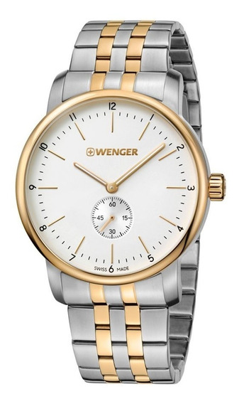 Relógio Masculino Suíço Wenger Urban Classic Prata/dourado