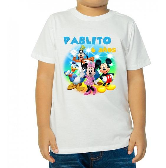 Playera Infantil Casa De Mickey Mause Personalizada Fiesta
