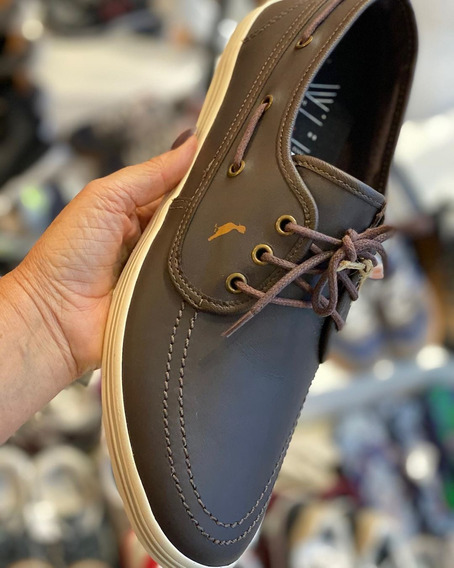 Sapato Reserva Em Couro Tam. 40 E 41 - Marrom