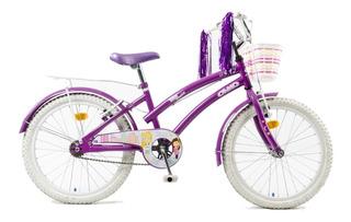 Bicicleta Infantil Olmo Tiny Dancers Rodado 20 Nena Violeta