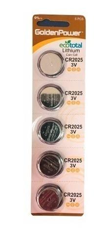 Cr 2025 3v Bateria Gp Cartela 5 Pc Lithium Controle Remoto