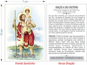 Santinho De São Cristóvão (milheiro Pagar Promessa)