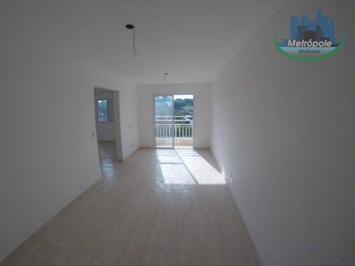 Apartamento Com 2 Dormitórios E 2 Vagas Para Alugar, 50 M² Por R$ 1.200/mês - Vila Rio De Janeiro - Guarulhos/sp - Ap1099