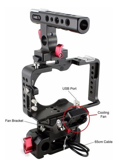 Came-tv Cage Gaiola Rig Kit Para Sony A6300 Com Ventilador