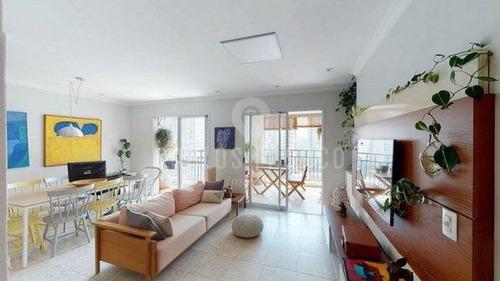 Imagem 1 de 15 de Apartamento Claro E Arejado, Com Cara De Casa, No Coração Da Vila Andrade. - Cf68004