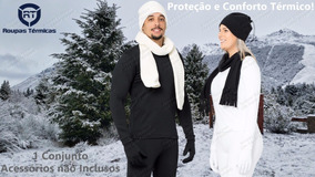 Blusa + Calça Frio Segunda Pele Flanelada Viagem Neve Moto