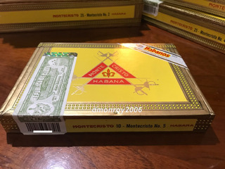Habano Montecristo No. 5 Original Caja 10 U. Cubano Puros