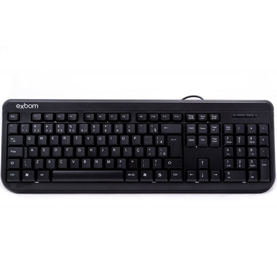 Teclado Pc Usb Basico Windows 2000 Xp Vista 7 8 10 Resistent