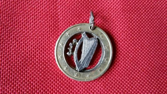 Moneda Irlanda Arpa Calada A Mano