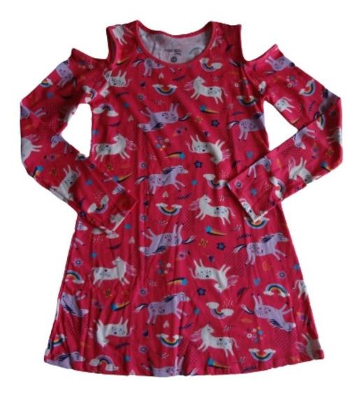 Vestido Juvenil Manga Longa Estampado Marisol