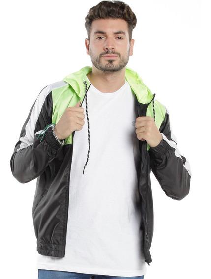 Campera Rompeviento Bross Fluo - Hombre