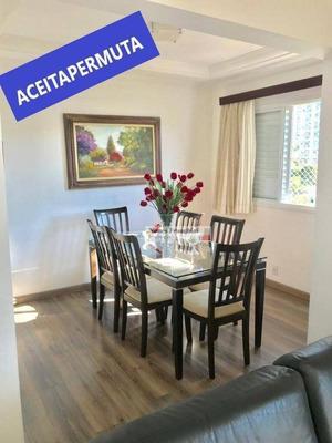 Lauzane - Apartamento 2 Dormitórios(reversível), Sala Ampliada, 1 Suíte, 2 Vagas - R$ 699.000,00 - Ap7254