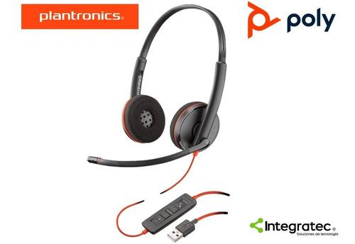 Headset Diadema Plantronics  C3220 C320 Biaural Gtia 2 Años