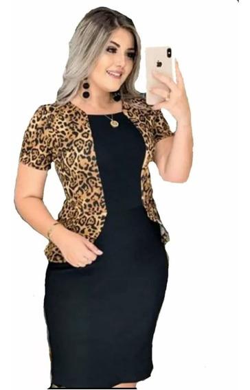 Vestido Social Executivo Grande Plus Size Roupas Femininas