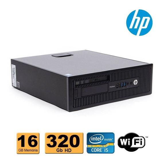 Computador Hp Slim Intel Core I5 4ªg 16gb Ddr3 320gb Wifi