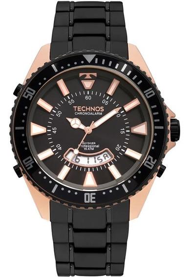 Relógio Technos Masculino Skydiver Preto/rosê T205jj/4p