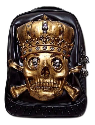 Mochila De Diseño Rey Calavera / Skull Gotica
