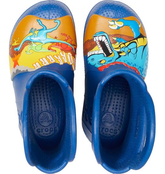 Galocha Crocs Kids Dino Azul