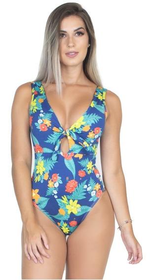 Body Estampado Amarração Nó Feminino Blusa Collant Moda 293