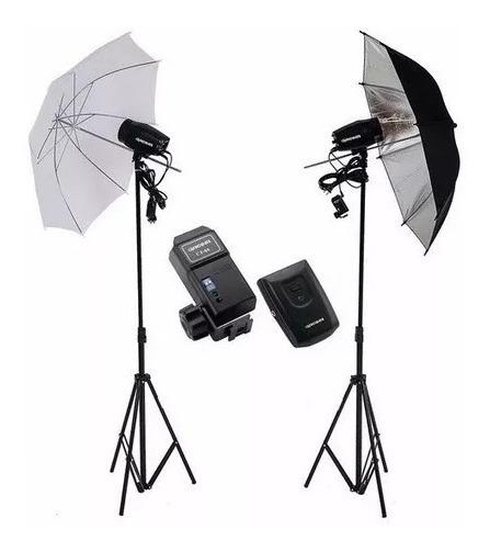 Kit Estúdio Fotográfico Argos Flash K150 Greika 300w Tocha