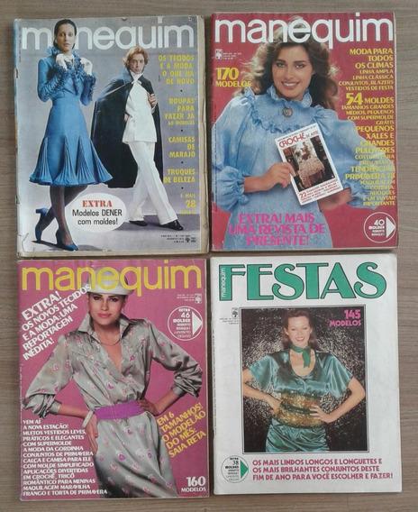 Lote Com 04 Edições Da Revista Manequim, Década De 1970