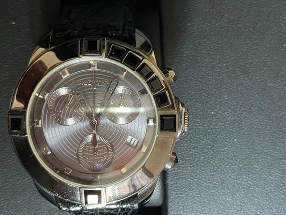 Relógio Valentino- Pulseira De Couro De Crocodilo- Original