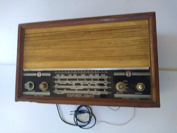 Rádio Antigo De Madeira Funcionando 220w