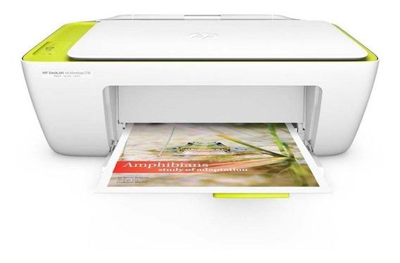 Multifuncional Hp 2136 Colorida Deskjet Ink Adv Bivolt Impressora
