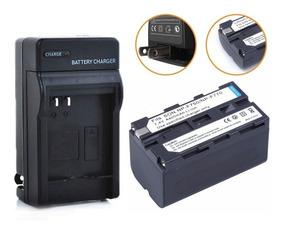 Kit Bateria Np-f750 F770 Carregador Led 4400mah Yn300 Yn360