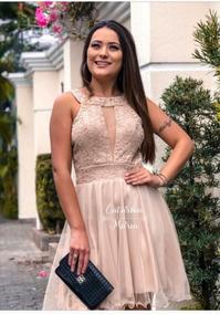 Vestido Debutante Madrinha Curto Rodado Valsa 15 Anos Tule