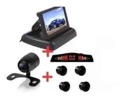Kit Monitor Retrátil + Sensor Preto E Câmera Santa Fé