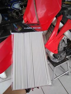 Popotes Protectores De Rayos Cubre Rayos Para Moto,blancos