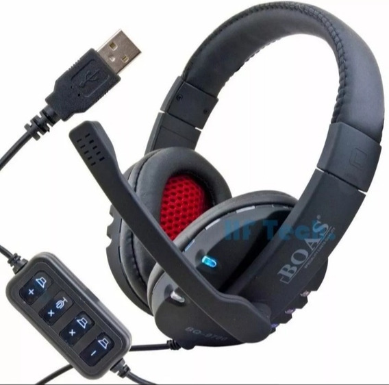 Kit 50 Headphone Boas Usb Led Atacado Headset Frete Gratis