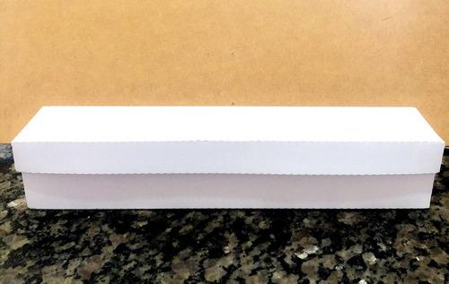 06 Caixas Para 5 Doces E Uma Rosa - Branca
