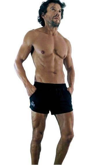 Id483 Mini Short Entallado Pantalon Corto Hartl Negro Black