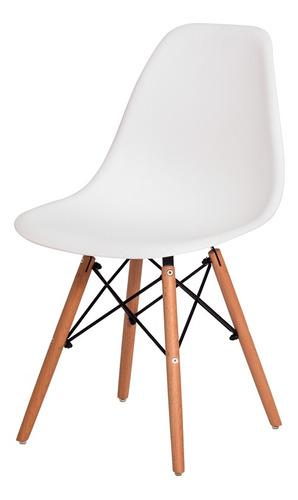 Imagem 1 de 5 de Cadeira Eiffel Eames Base Madeira Várias Cores