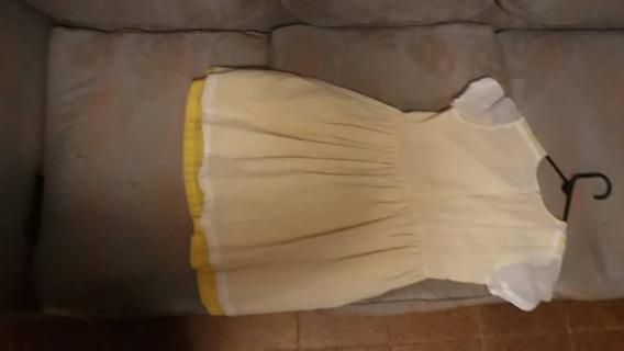 Vestidos Amarillo Con Blanco De Niña