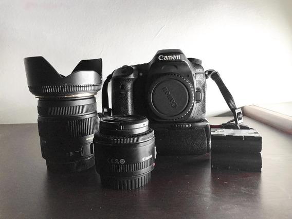Canon 80d + 17-50 2.8 Sigma + 50mm 1.8 Cânon + Acessórios