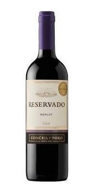 Imagen 1 de 1 de Vino Tinto Concha Y Toro Merlot Reservado 750 Ml.*