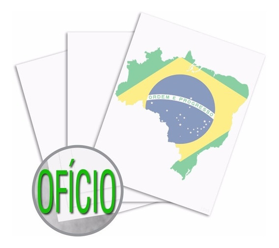 Papel Sublimático Oficio 90g Resinado Branco 700 Folha Promo