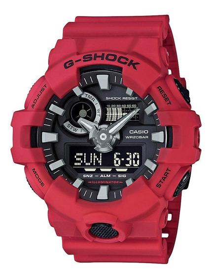 Relógio Masculino G-shock Ga 700 Adr Vermelho Envio 24hs.