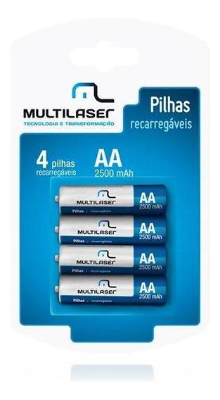 Pilhas Recarregaveis 4x De Tipo Aa Cb052 Multilaser