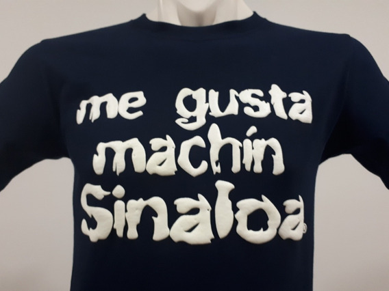 2 Playeras Puro Sinaloa Compa Me Gusta Machín Sinaloa Marino
