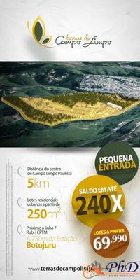 Loteamento Terras De Campo Limpo - 250 M² - R$ 88.000,00 - Terreno A Venda No Bairro Botujuru (botujuru) - Campo Limpo Paulista, Sp - Ph84812
