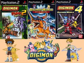Kit Com 3 Jogos Digimon Para Playstation 2