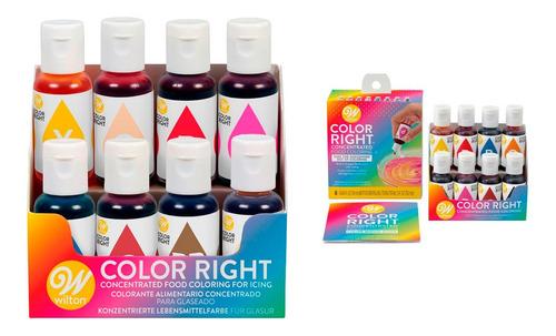 Color System Wilton X 8 Colorantes Y Paleta - No Full
