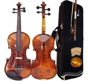 Violino Envelhecido 4/4 Vk644 Eagle Com Estojo + Espaleira